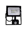Светодиодный прожектор с датчиком движения, 30Вт 6500K, LMPS37, чёрный