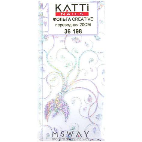 KATTi Фольга переводная 36 198 прозрачная с мульти блестящим узором феникс 20см, фото 2