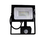 Светодиодный наружный прожектор с датчиком 50Вт 6500K LMPS57 чёрный, фото 1