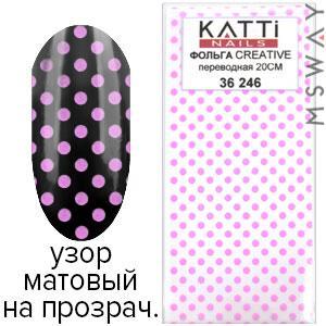 KATTi Фольга переводная 36 246 узор на прозрачной основе 20см