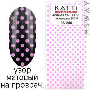 KATTi Фольга переводная 36 246 узор на прозрачной основе 20см, фото 2