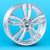 Литые диски Replica Hyundai (JT1264) R17 W6.5 PCD5x114.3 ET45 DIA67.1 (silver)