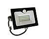 Прожектор світлодіодний з датчиком руху 30Вт, 6500K LMPS36 чорний