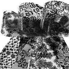KATTi Фольга переводная 36 167 прозрачные с черным гипюром 20см, фото 3