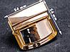 Замок сумочный 65-084, золотой, р. 34*34 мм