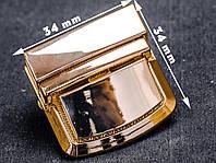 Замок сумочный 65-084, золотой, р. 34*34 мм, фото 1