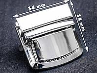 Замок сумочный 65-084, никель, р. 34*34 мм, фото 1