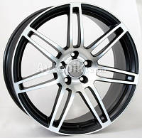 Литые диски WSP Italy Audi (W557) S8 Cosma Two R18 W8 PCD5x112 ET45 DIA57.1 (black polished), фото 1