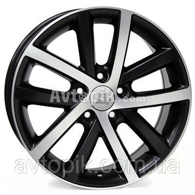 Литые диски WSP Italy Volkswagen (W460) Rheia R17 W7.5 PCD5x112 ET54 DIA57.1 (black polished)