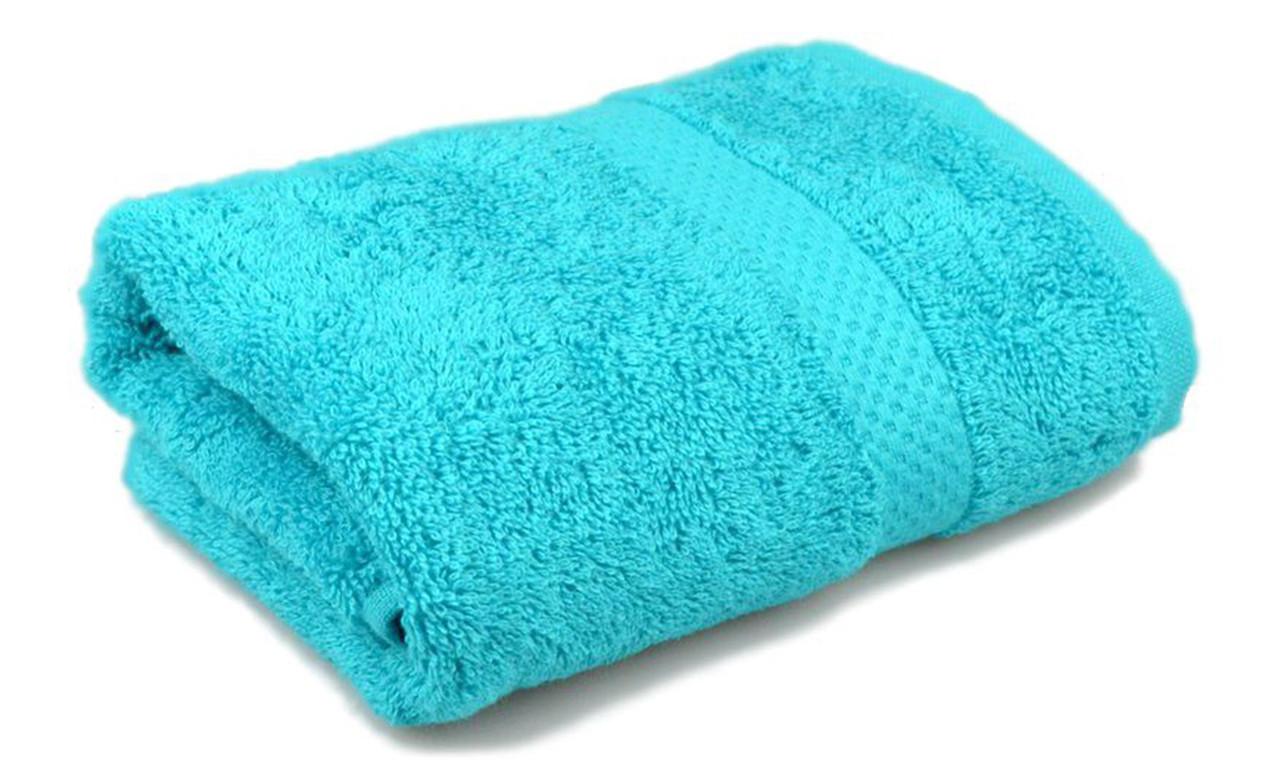 Полотенце махровое, бордюр, 70х140, цвет: морская волна