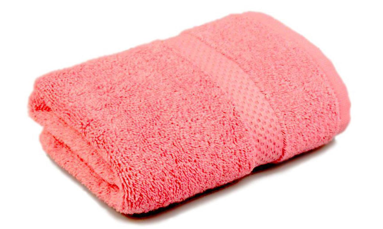 Полотенце махровое, бордюр, 70х140, цвет: розовый