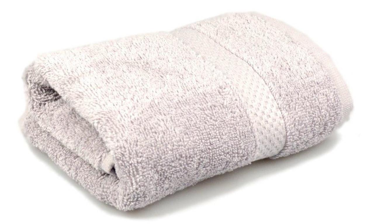 Полотенце махровое, бордюр, 70х140, цвет: серый