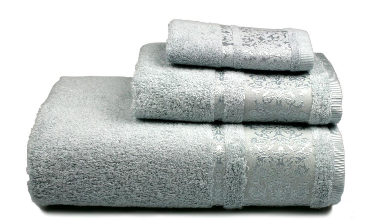Полотенце махровое Бамбук, 500 гр/м2, 50х90, цвет: голубой