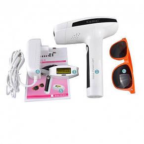 Портативный лазерный эпилятор (фотоэпилятор) Kemei KM 6812 для лица и тела, фото 3