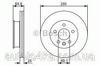 Диск тормозной передний Bosch 0 986 479 S80