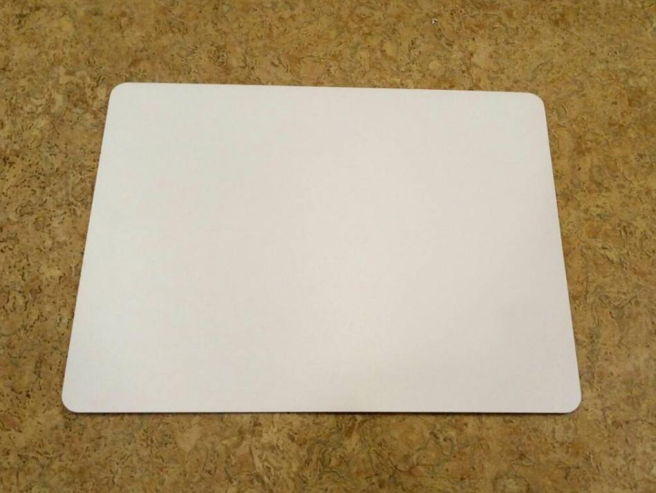 Прямоугольная подложка ДВП 30*40 см, Белая с закругленными краями (1 шт)