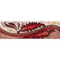 Плитка Golden Tile Александрия Фриз розовый В15331 6*20