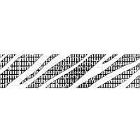 Плитка Golden Tile Кайман Фриз черный 6*25