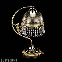 Латунная настольная лампа SCARLETT SCARLETT CE brass antiq Artglass. Латунная настольная лампа размерами 18 х
