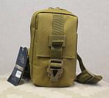Сумочка - барсетка для карточек и телефона скрытого ношения (плечевая) (9119-coyote), фото 2