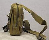 Сумочка - барсетка для карточек и телефона скрытого ношения (плечевая) (9119-coyote), фото 3