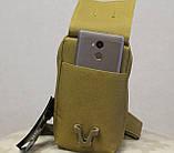 Сумочка - барсетка для карточек и телефона скрытого ношения (плечевая) (9119-coyote), фото 4