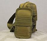 Сумочка - барсетка для карточек и телефона скрытого ношения (плечевая) (9119-coyote), фото 6