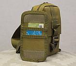 Сумочка - барсетка для карточек и телефона скрытого ношения (плечевая) (9119-coyote), фото 7