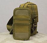 Сумочка - барсетка для карточек и телефона скрытого ношения (плечевая) (9119-coyote), фото 8