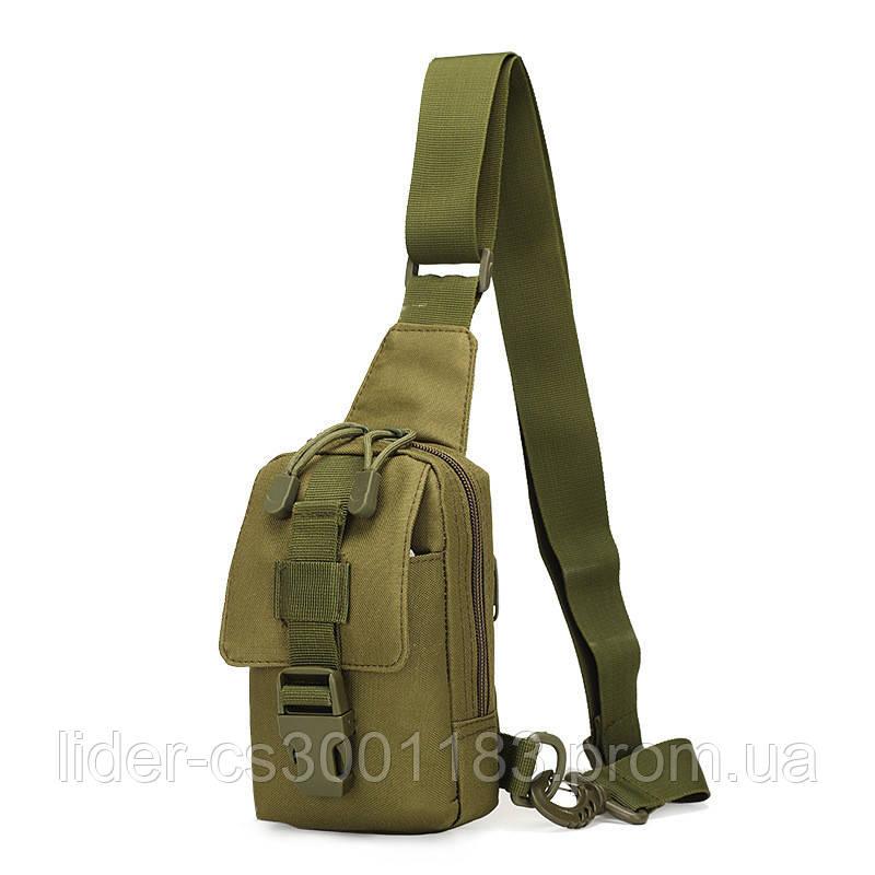 Сумочка - барсетка для карток і телефону прихованого носіння (плечова) (9119-olive)