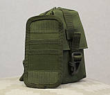 Сумочка - барсетка для карток і телефону прихованого носіння (плечова) (9119-olive), фото 3
