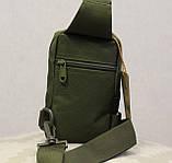 Сумочка - барсетка для карток і телефону прихованого носіння (плечова) (9119-olive), фото 4