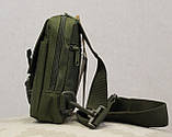 Сумочка - барсетка для карток і телефону прихованого носіння (плечова) (9119-olive), фото 9