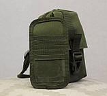 Сумочка - барсетка для карток і телефону прихованого носіння (плечова) (9119-olive), фото 10