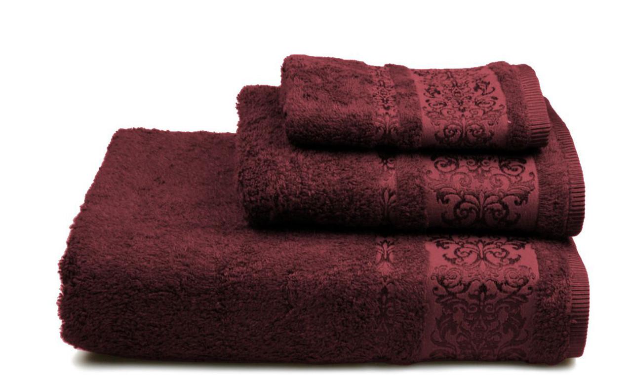 Полотенце махровое Бамбук, 500 гр/м2, 50х90, цвет: бордовый