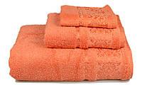 Полотенце махровое Бамбук, 500 гр/м2, 70х140, цвет: оранжевый