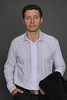 Классическая мужская вышитая рубашка МК07-1111, фото 1