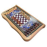 Нарды и шахматы 2 в 1 Нарды 2 в 1 Нарды+шахматы 44х44см Нарды 2 в 1