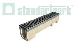 Комплект: Лоток водоотвод. MAXI DN 110 полимербет. с решеткой водоприемной кл.E
