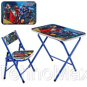 Столик A-19-AVE складной, столешница 60-40 см, 1 стульчик