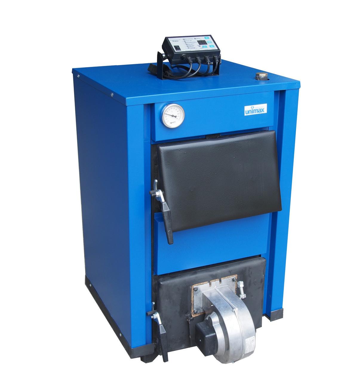Твердотопливный котел Unimax КСТВ-24 Е с автоматикой