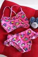 Купальник детский розовый с рыбками, фото 1