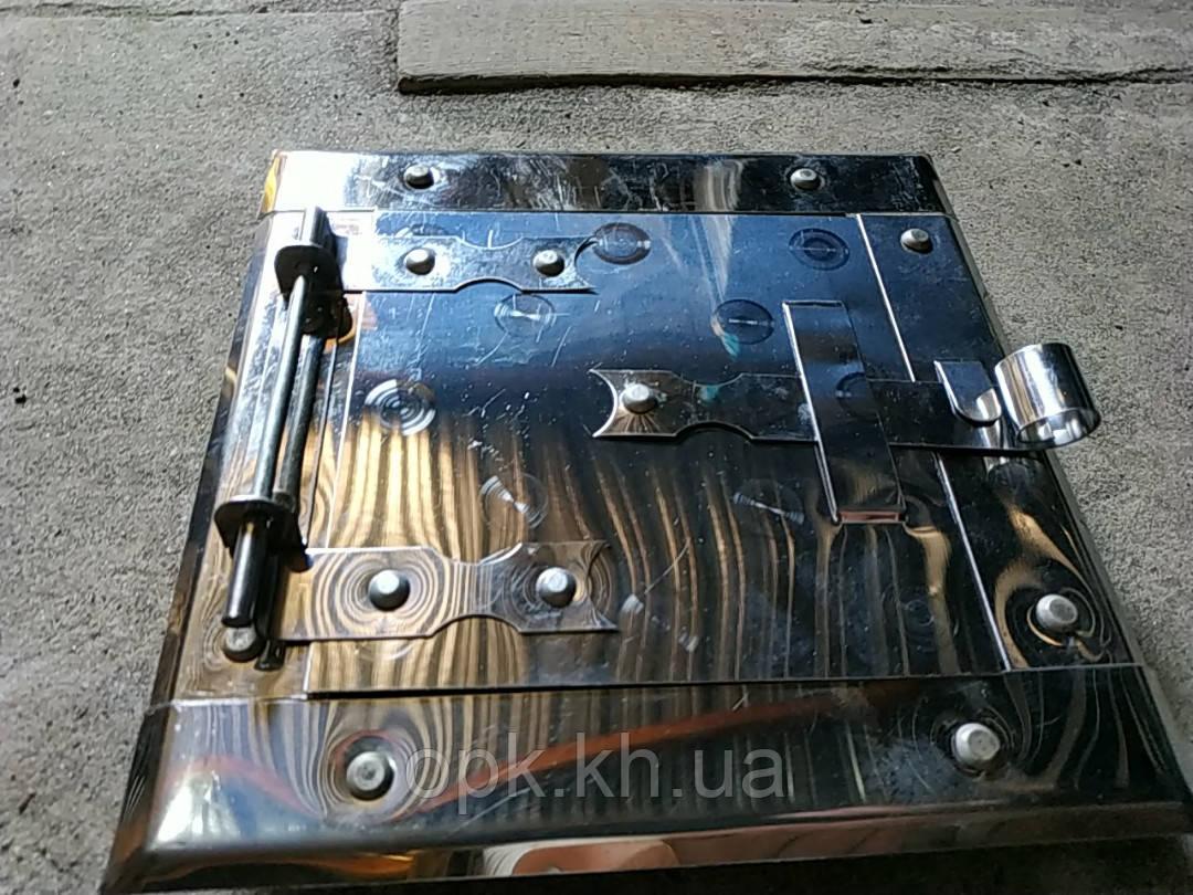 Дверца сажетруска нержавейка №2 в.120*120 мм н. 165*165 мм
