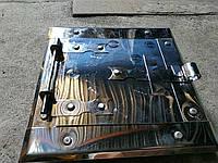 Дверца сажетруска нержавейка №2 в.120*120 мм н. 165*165 мм, фото 1