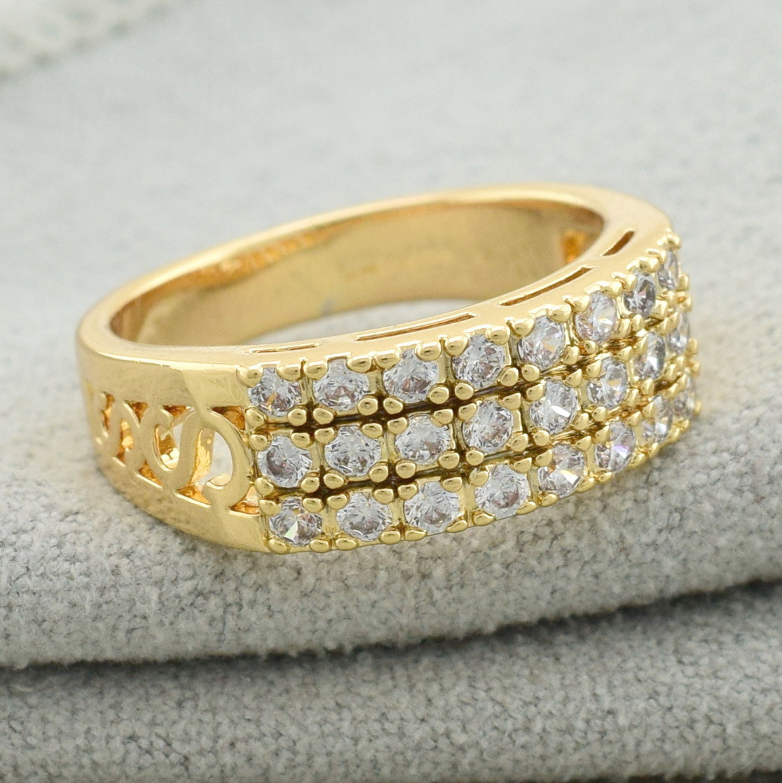 """Кольцо Xuping Jewelry """"Алия"""" размер 19,5 медицинское золото, позолота 18К. А/В 3545"""
