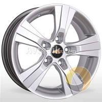 Литые диски Storm YQR-019 R15 W6.5 PCD5x105 ET39 DIA56.6 (silver)