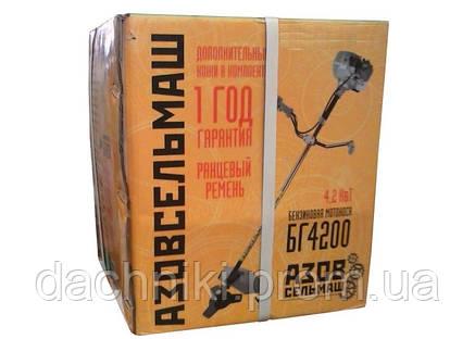 Бензокоса АзовСельмаш БГ4200 (3 ножа,1 катушка,ремень рюкзак), фото 2