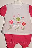 Комплект на дівчинку 6,12,18 міс арт 75453 Туреччина рожевий,кораловий., фото 9