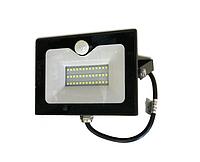 Прожектор светодиодный с датчиком движения 50Вт, 6500K LMPS55 чёрный, фото 1