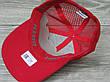 Стильная мужская кепка, бейсболка, вышивка логотипа в стиле Supreme (реплика), сетка, размер 56-58, на резинке, фото 2